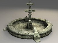 Old Fountain - lowpoly next-gen model